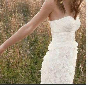 JS Collection white petal dress